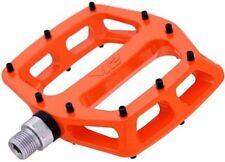 """DMR V12 Sealed Bearings MTB Bike Bicycle Flat Platform Pedals 9/16"""" Tango Orange"""