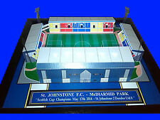 ST JOHNSTONE - McDIARMID PARK STADIUM - HANDMADE STADIUM WITH WORKING LIGHTS