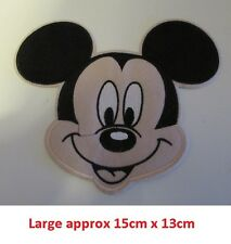 Disney MICKY Mouse Embroidered Iron On / Sew On Applique Patch Badge LARGE