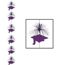 Purple graduation Cap Hanging Firework Stinger danglers grad hat whirls 7 ft.