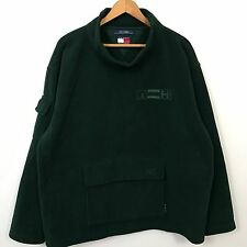 VTG 90s Tommy Hilfiger Spell Out Turtle Neck Fleece Jacket Mens SZ 2XL Polo