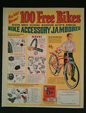 1966 Western Auto's Accessory Jamboree Bicycle~Horns~Mirrors~Lights Buzz Bike AD