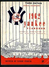 1962 Yankees Official Yearbook Third Edition Mickey Mantle Roger Maris Berra