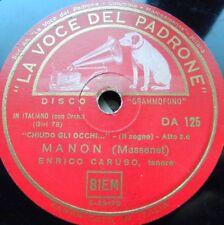 0610/ CARUSO-E lucean le stelle-Puccini-Chiudo gli occhi-Massenet-Schellack