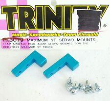 VINTAGE TEAM TRINITY RC KINWALD BLUE ALUMINUM SERVO MOUNTS DURATRAX ST TK3079