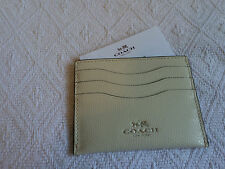 NEW COACH Ivory Color Leather Card Case Credit Card Holder