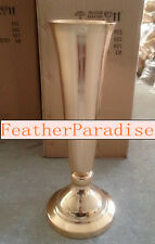 Gold Polished Metal Trumpet Vases Wedding Centerpieces Vases French Gold 20 inch