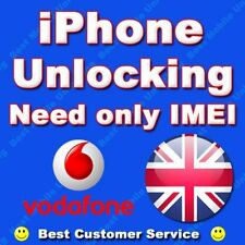 Factory Unlock Iphone 4 4s 3gs 5 Vodafone Reino Unido limpio no impidió Imei