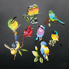 Embroidery Birds Iron Sew On Patch Badge Embroidered Fabric Trim Applique DIY