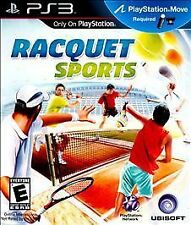 RACQUET SPORTS 2010 PLAYSTATION 3 Game PS3 Ping Pong TENNIS (Move Required) vg