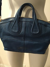 PREOWNED !! GIVENCHY - MESSENGER NIGHTINGALE CALF LEATHER COLOR MEDIUM BLUE
