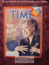 TIME Magazine March 2 1987 Mar 3/2/87 BETTE MIDLER TOWER COMMISSION