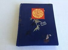 Stamp Collecting Book 10 Page Cloth Hard Cover Asian Design