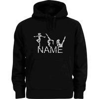PERSONALISED HOLOGRAPHIC SPARKLE GYMNASTICS HOODIE ADULT & KIDS