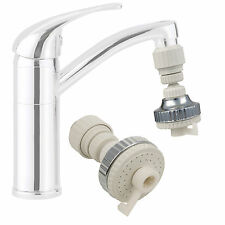2 in1 Eco Water Saving Kitchen Tap Faucet Aerator 360° Swivel Adjustable Nozzle