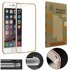 Metal Edge iPhone 7 Gold Gorilla Tech Brand Screen Protector Tempered Glass