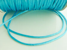 10 x metres Turquoise Blue 2mm Rattail Rat Tail Satin Nylon Beading Cord Thread