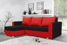 New Mojito Corner Sofa Bed Best Quality   BLACK AND RED