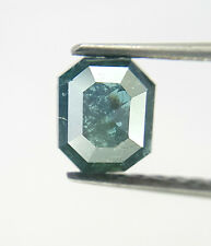 0.45TCW Green Blue color Radiant shape Rose cut African Loose Natural Diamond