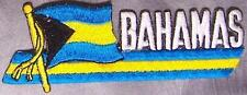 Embroidered International Patch National Flag of Bahamas NEW streamer
