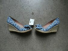 Lord & Taylor Liberty of London Artemi Wedge Espadrille Shoes - Size 7