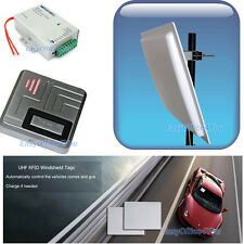 Car Access Control System UHF RFID Long Distance Parking Reader+windshield Tags