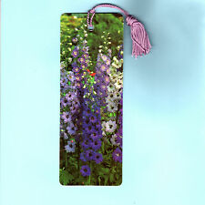 BOOKMARK PURPLE Delphinium Ajacis Consolida Garden Lover Gift Flower Seed Tassel