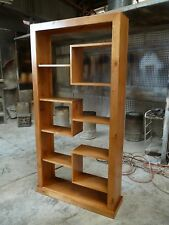 Factory direct solid pine timber room divider bookcase display unit 2000/1000