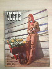 VOGUE Magazine US APRIL 15,1940 Fashions on Living Collection Vintage Mode