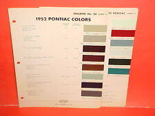 1952 PONTIAC DELUXE CHIEFTAIN CATALINA CONVERTIBLE COUPE SEDAN WAGON PAINT CHIPS