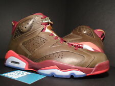 2014 Nike Air Jordan VI 6 Retro CHAMPIONSHIP CIGAR UMBER BROWN RED GOLD BLACK 11