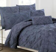 Donna Karan DKNY DIAMOND TUCK Sapphire Blue FULL/QUEEN QUILT Bedding