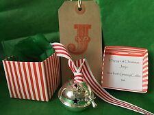 Personalised Baby's 1ST First Christmas 2016 Silver 40mm Bell Polar Express
