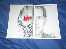 ANT-MAN / SCOTT LANG Signed Art Print Set by Marta Wit ~Avengers/Movie