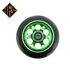 1X PRO STUNT SCOOTER GREEN DRILLED METAL CORE WHEEL 110mm 88A ABEC 9 BEARINGS 11