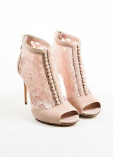 Dolce & Gabbana Suede Lace Keira and Catania peep toe Booties RETAIL $1295