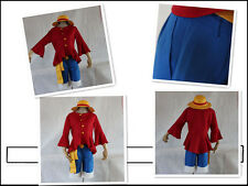 One Piece Monkey D Luffy cosplay costume 2nd Version with hat UK