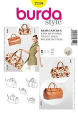 BURDA SEWING PATTERN TRAVEL BAGS 7119