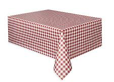 Red Gingham Plastic Rectangle Tablecloth Tablecover Party Tableware Outdoor Use