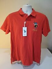 US Polo Assn New Tags Men Red Large Polo Shirt With USPA Horse & Rider Emblem