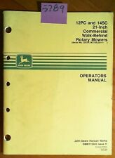 "John Deere 12PC 14SC 21"" Commercial Rotary Mower 100,001- Operator Manual 10/91"
