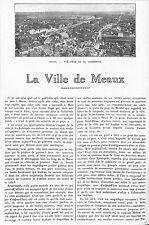 MEAUX ARTICLES PRESSE PAR GEORGES LUGOL MAIRE & JULES PREVET DEPUTE 1923