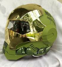 Masei 610 Green Gold Chrome Zaku Motorcycle Bike Jays Gundam Arai Chopper Helmet