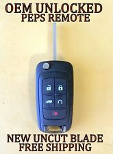 OEM GM BUICK PEPS PROX FLIP KEY SWITCHBLADE KEYLESS REMOTE START FOB TRANSMITTER