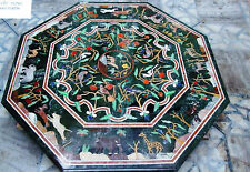 3' GREEN  Marble coffee Dining Table Top Inlay Handmade Home Decor Christmas Gif