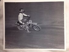 Vintage Black-And-White Photo North High School Motocross Team Photo 1980