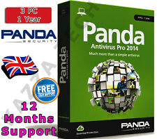 PANDA ANTIVIRUS PRO 2014 3 PC USER 1 YEAR! Activation License Key Anti Virus