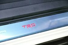 TOYOTA HILUX REVO 2016 GENUINE ALUMINUM SCUFF PLATE WITH TRD LOGO RED LIGHT