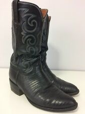 Vintage  Lucchese Lizard Cowboy Western Boots Size 9D