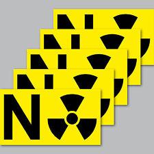 5 Stück Aufkleber 8cm Sticker Kernkraftwerk Atomkraft Gegner Stop Radioaktivität